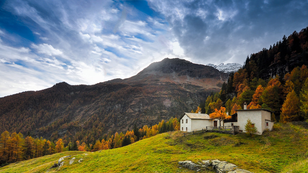 Sure, it's an isolated house with a colorful backdrop and a scenic view...